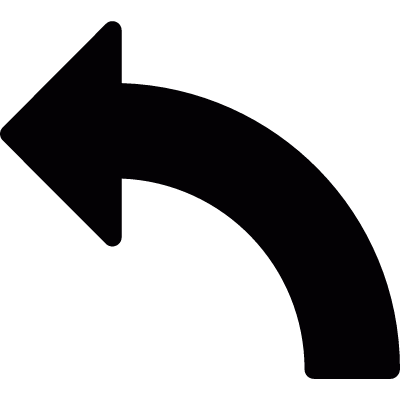 Curve to the left vector logo