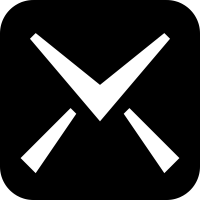 Mail symbol of icomoon vector logo