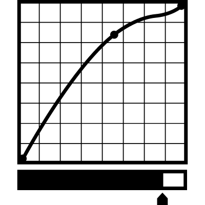 Graph with line and rating vector logo