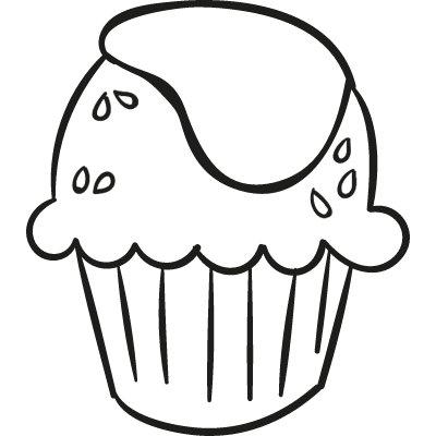 Cupcake with Cream vector logo