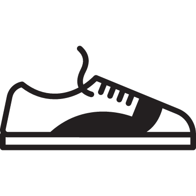 Shoe with Shoelace vector logo