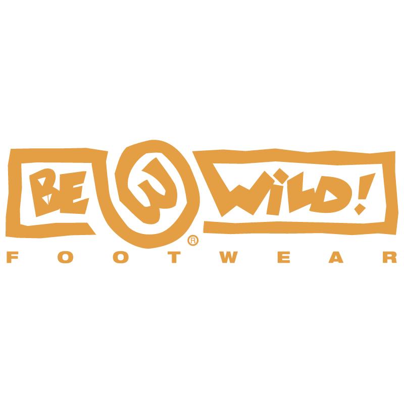 Be Wild Footwear vector logo