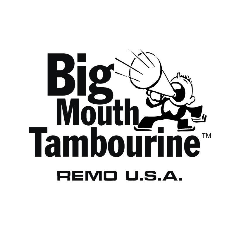 Big Mouth Tambourine vector logo