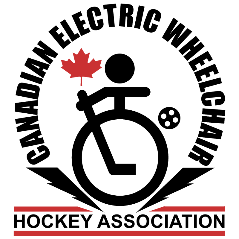 Canadian Electric Wheelchair Hockey Association vector logo