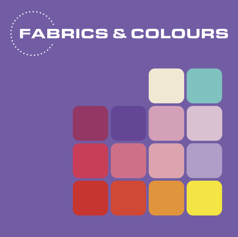 Fabrics & Colours vector logo