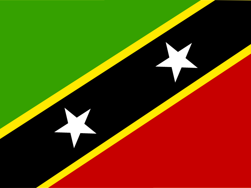 Flag of Saint Kitts and Nevis vector logo
