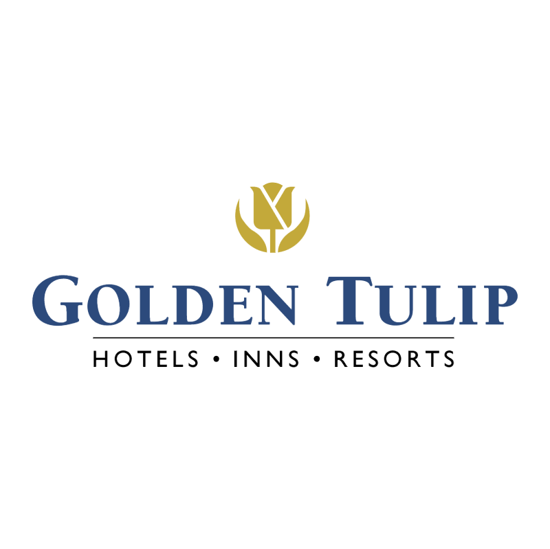 Golden Tulip vector logo