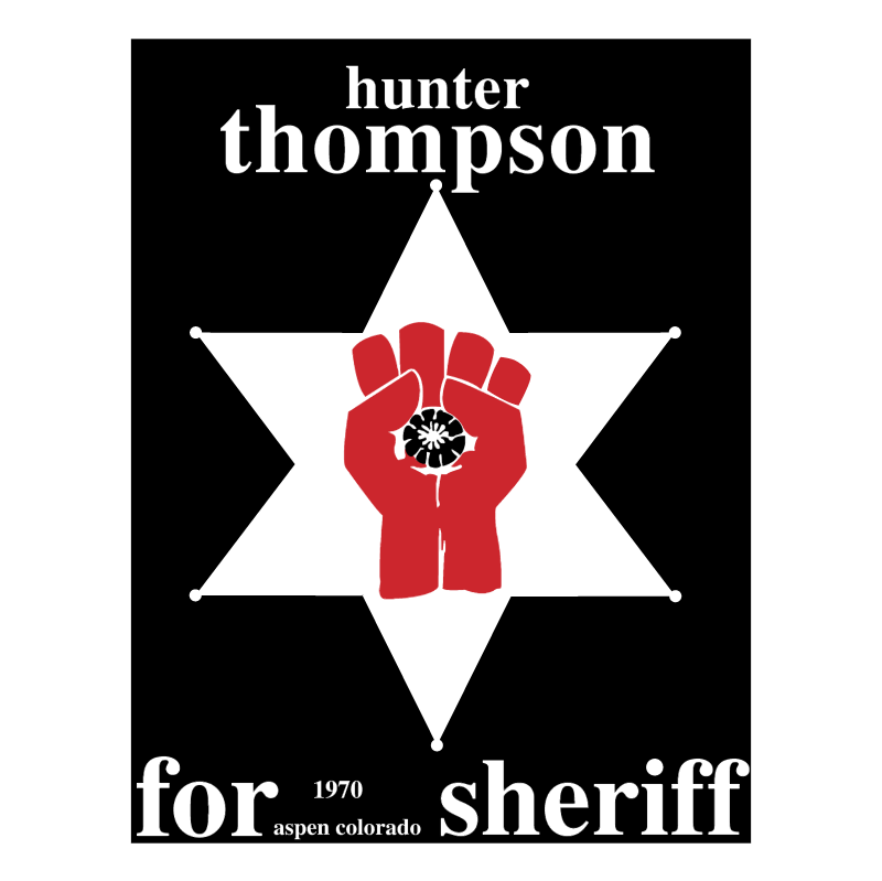 Hunter S Thompson vector logo