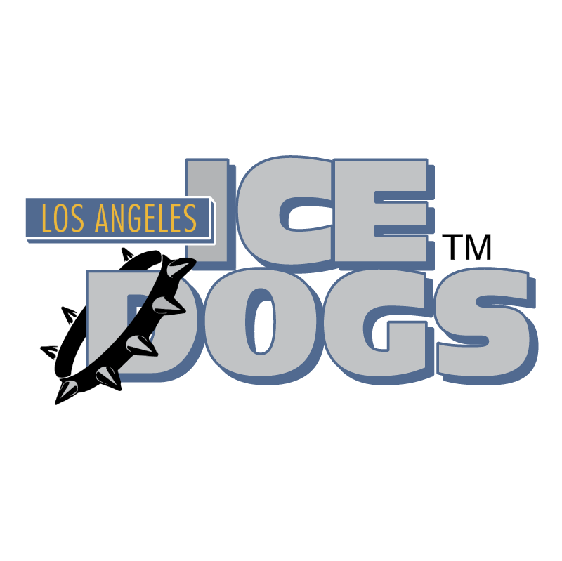 Long Angeles Ice Dogs vector logo