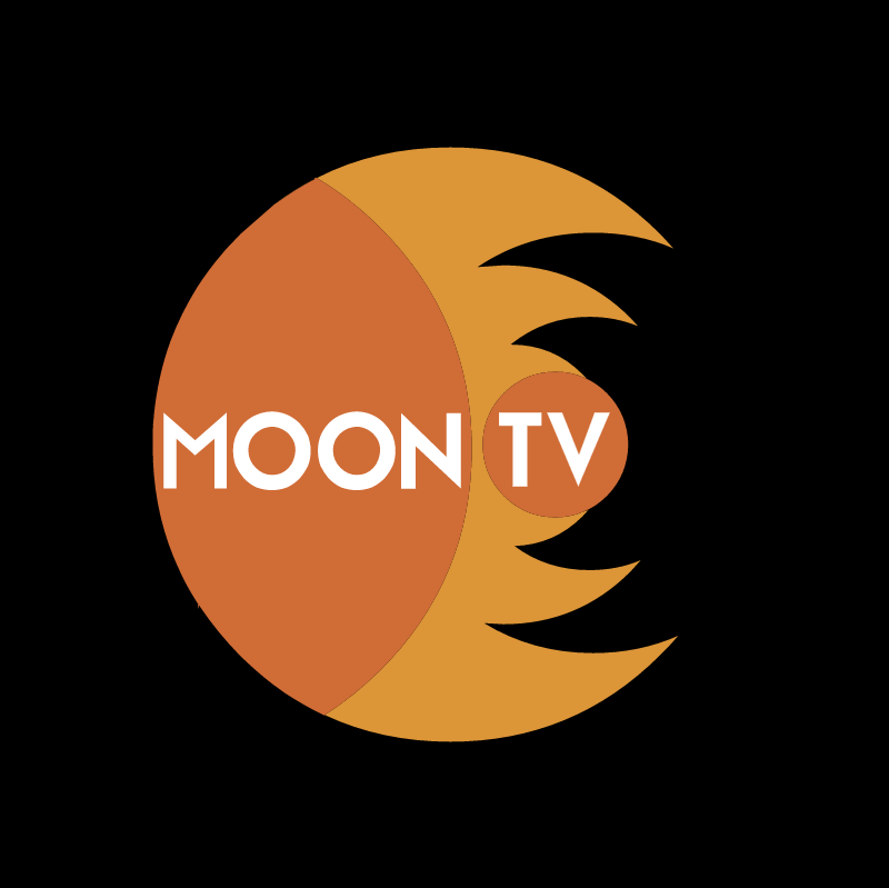 Moon TV vector logo
