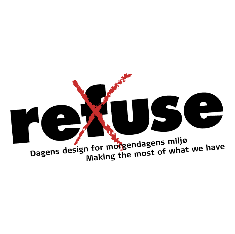 Refuse vector logo