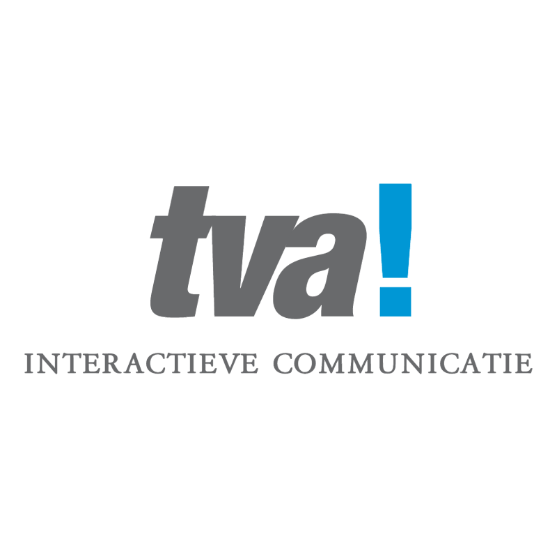 tva! interactieve communicatie vector logo