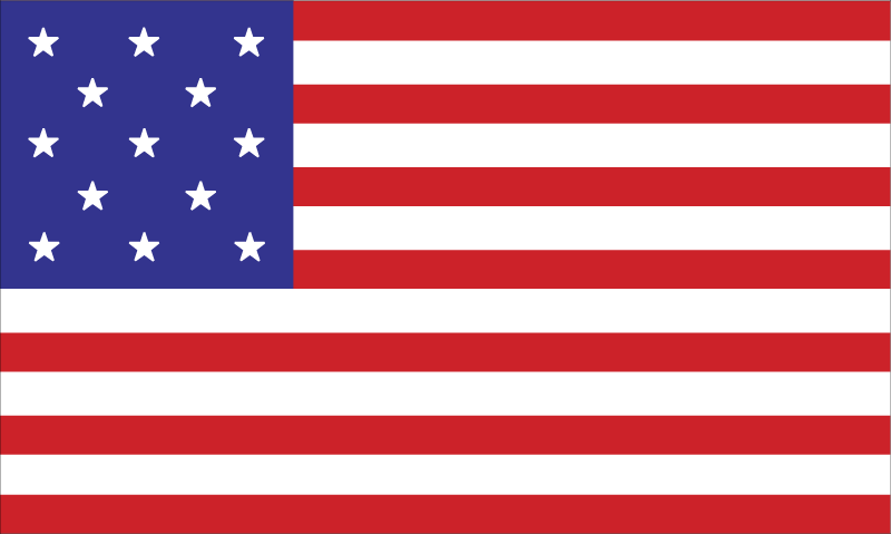 United States flag vector logo