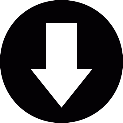 Arrow pointing down in a circle logo