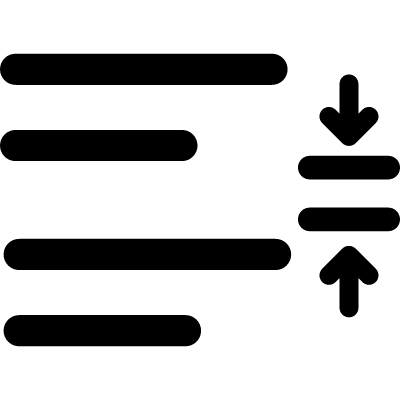 Line spacing adjustment in a paragraph vector logo