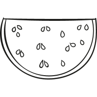 Watermellon Slice vector