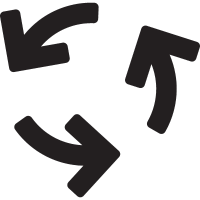 Three Curved Arrows