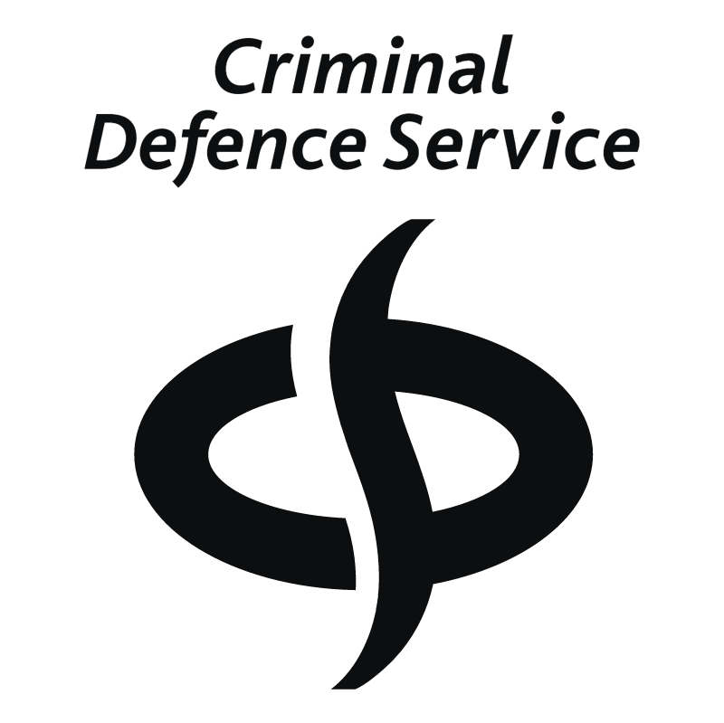 Criminal Defence Service vector