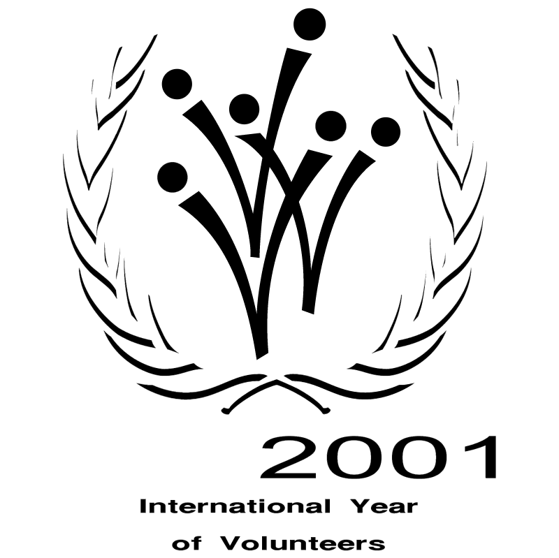 International Year of Volunteers vector logo