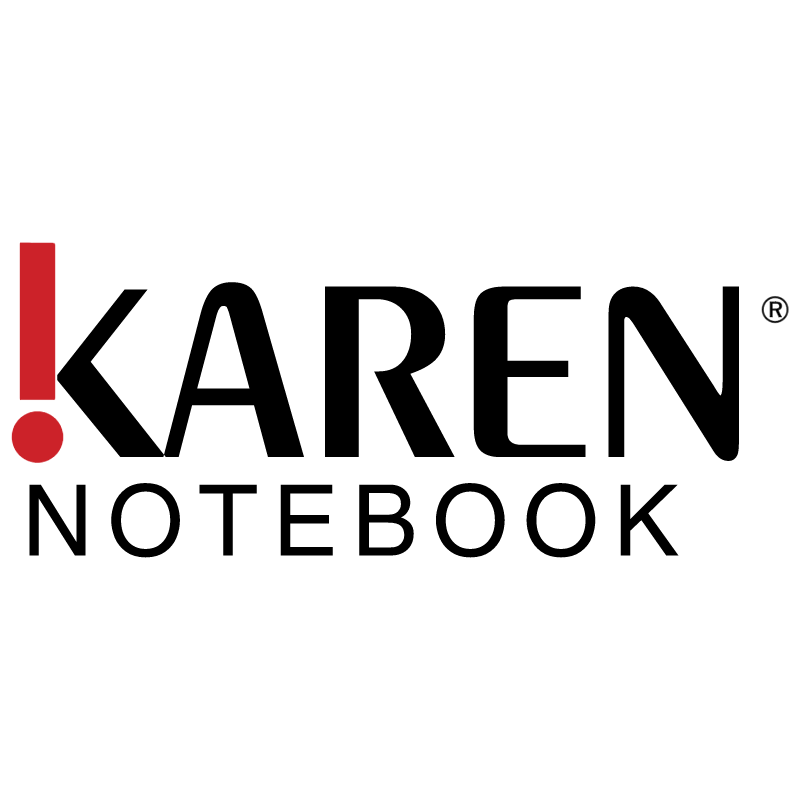 Karen Notebook vector