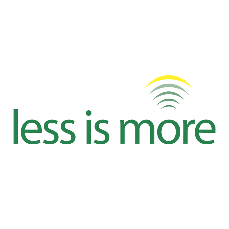 less is more vector logo