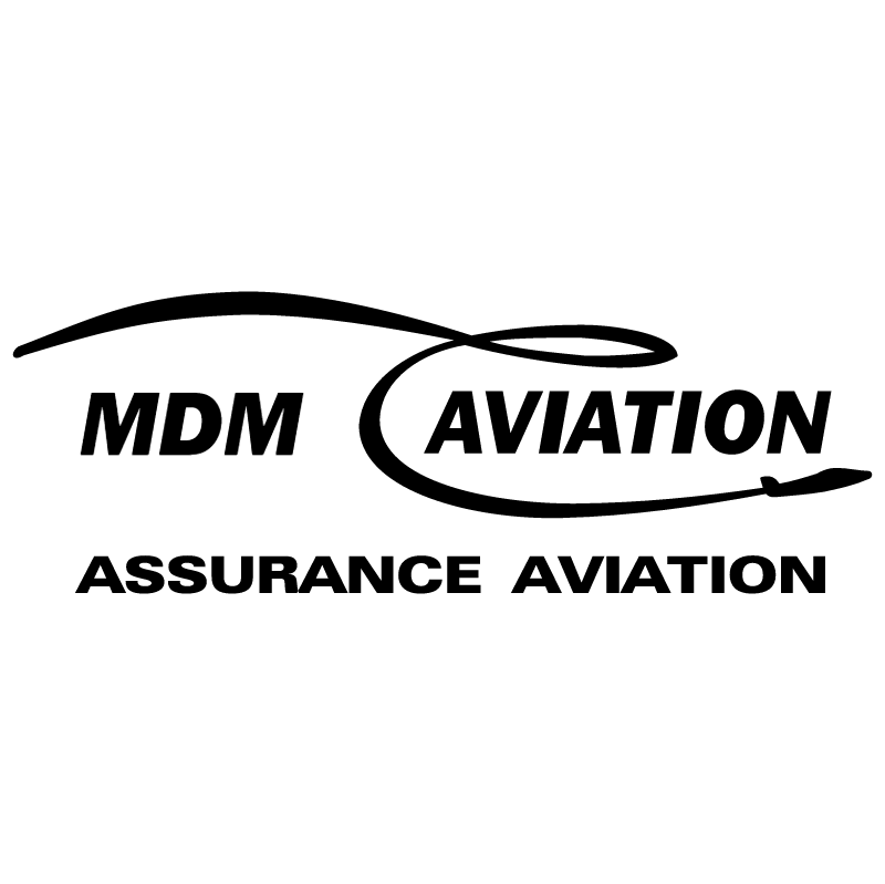 MDM Aviation vector logo