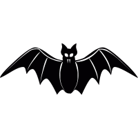 Frontal bat vector