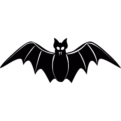 Frontal bat vector logo