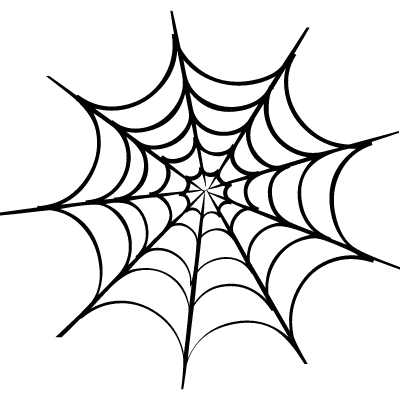 Spider web vector logo