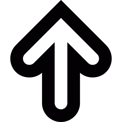 Up arrow vector logo