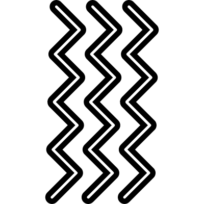 Zigzag lines in side view position logo