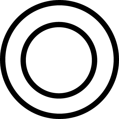 Plate circles from top view vector logo