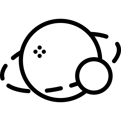 Planet with Satellite vector logo