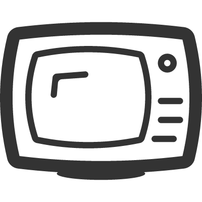Television Outline vector logo