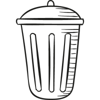 Big Garbage Can vector