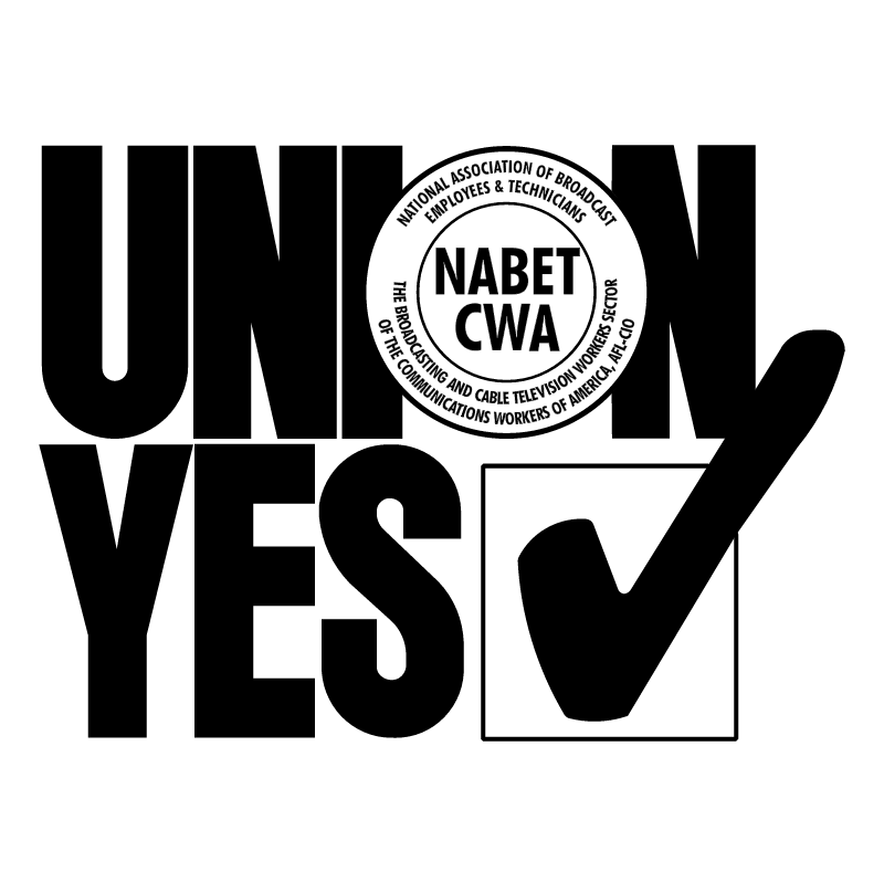 UNION YES NABET CWA vector