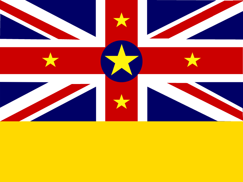 Flag of Niue vector