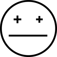 Depressed face vector