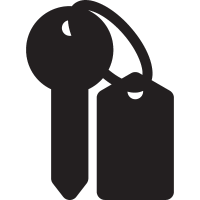 Hotel Key and Key Ring vector