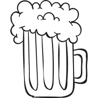Foamy Beer Jar vector
