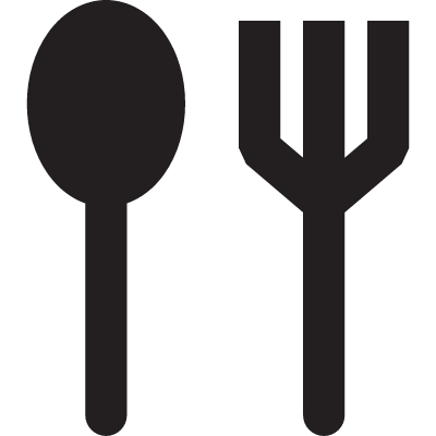 Soup Spoon and Fork vector logo