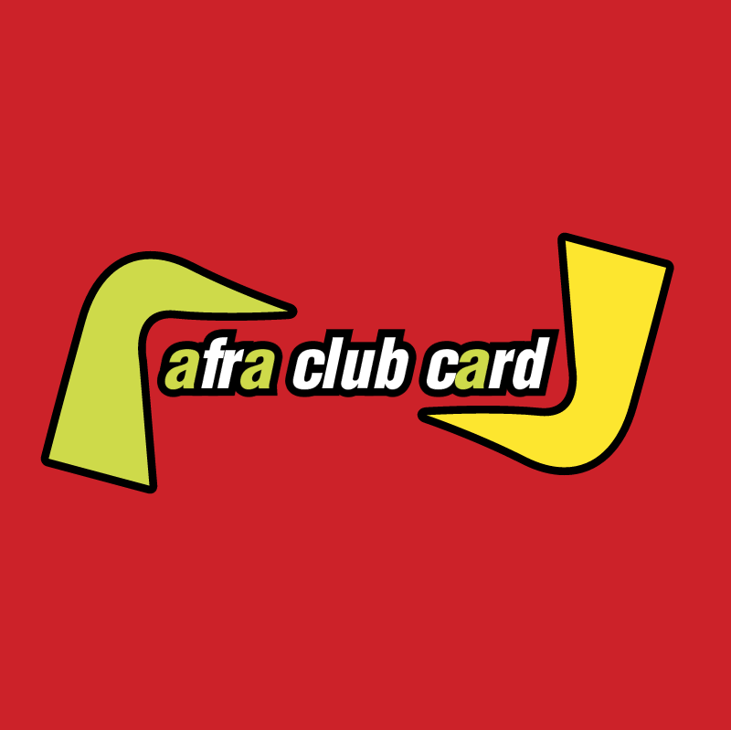 Afra Club Card true vector