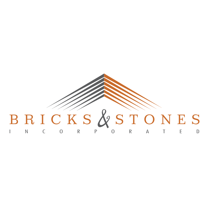 Bricks & Stones Incorporated 55231 vector logo