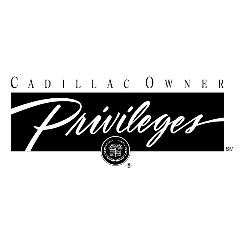 Cadillac Owners Privileges vector logo