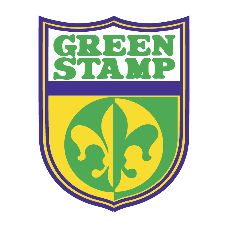 Green Stamp vector logo