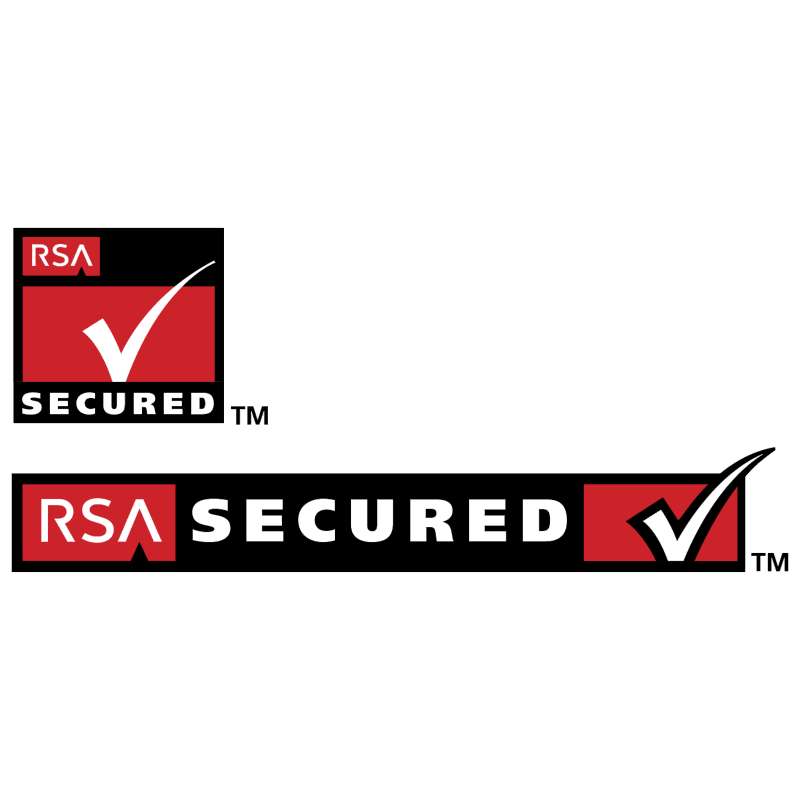 RSA Secured vector logo