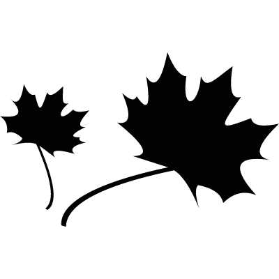 Two Maple leaves vector logo