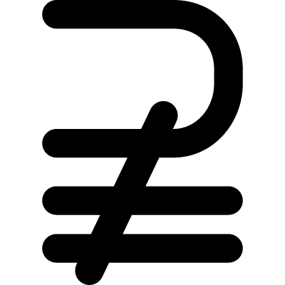 Superset of above not equal to mathematical symbol vector logo