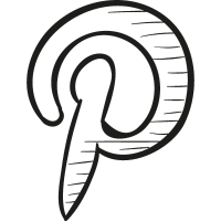 Pinterest drawn logo