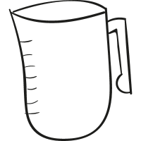 Measurement jar doodle vector